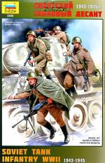 Советский танковый десант. Набор сборных фигур в масштабе 1/35. ZVEZDA 3544