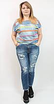 """Женские джинсы """"Рванки""""с напылением,Luizza(Турция) рр 50-56, фото 3"""