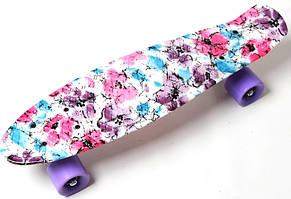 "Пенни борд (Penny Board) 22\"" с рисунком, \""Flowers chamomile\"""