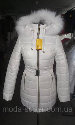 Жіноча зимова куртка із блискавкою ззаду рр 42-58, фото 2