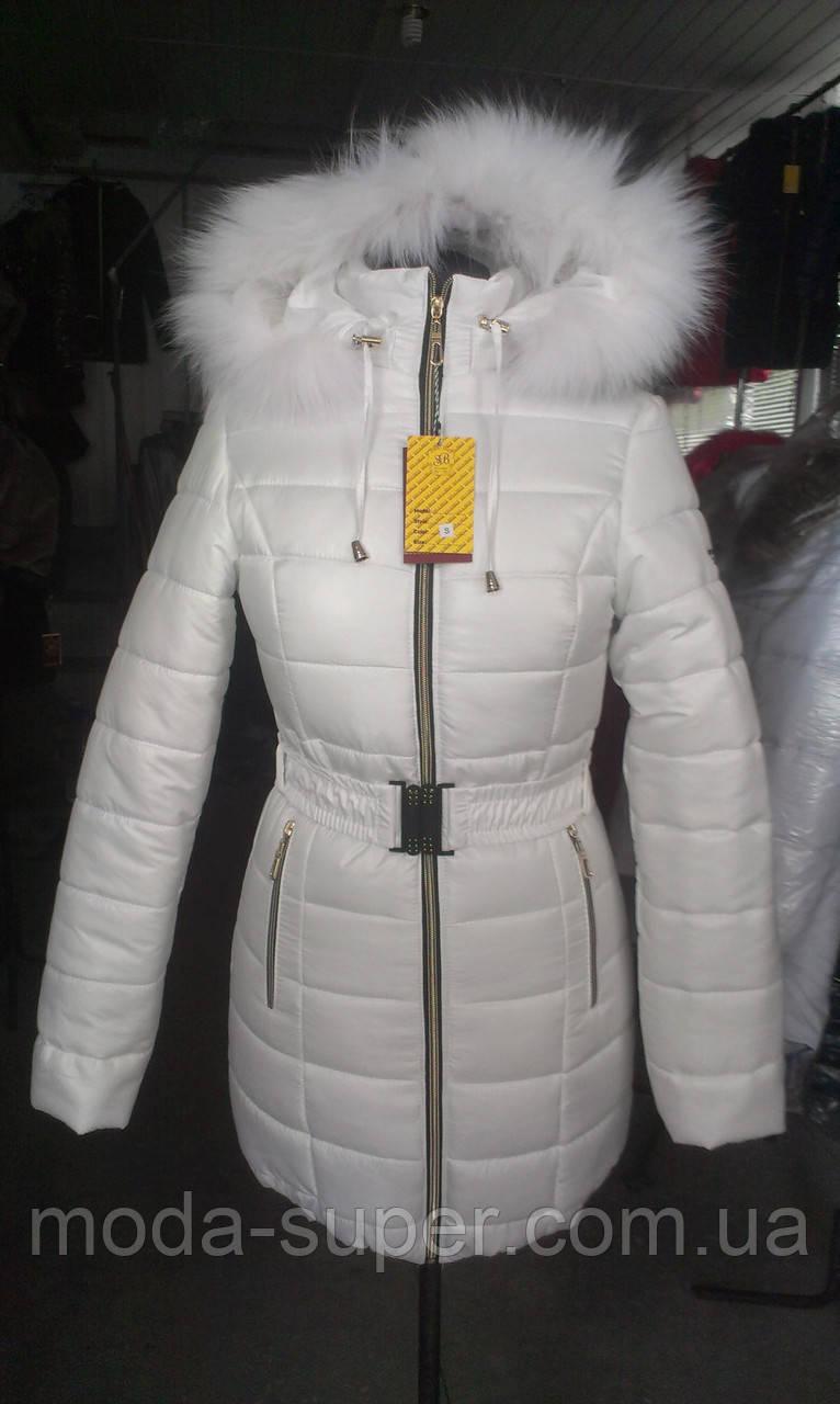 Жіноча зимова куртка із блискавкою ззаду рр 42-58
