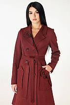Женское пальто чуть расклешенное к низу рр 44 и 50, фото 3