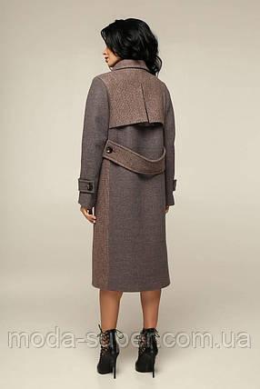 Женское пальто прямого кроя комбинированное   рр 44-54, фото 2