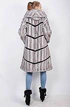 Роскошная женская шуба ,с капюшоном,под голубую норку рр 48-62, фото 3