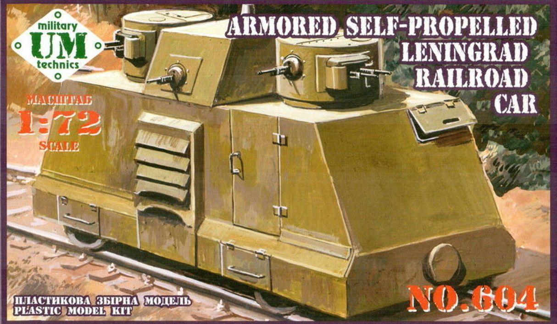"""Ленінград"" самохідна бронедрезина. 1/72 UM 604"