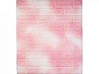 Самоклеющаяся декоративная 3D панель под кирпич / Цвет Бело-Розовый 700*770*7мм, фото 1