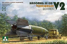 Немецкая ракета V-2 с тягачем Hanomag SS100 Vidalwagen. 1/35 TAKOM 2110