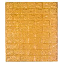 Самоклеюча декоративна 3D панель під цеглу колір помаранчевий 700*770*7мм