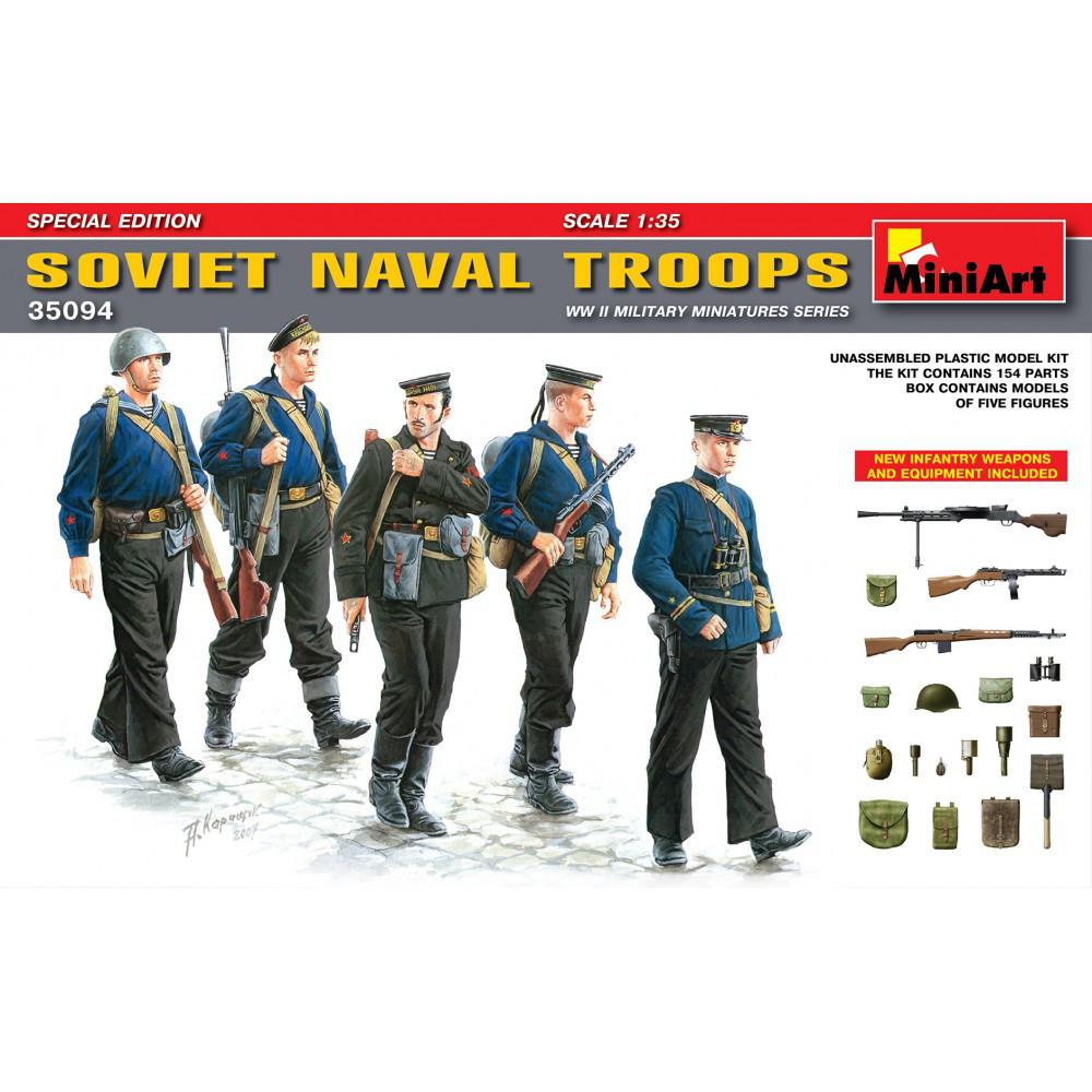 Советская морская пехота. Набор фигур, вооружения и амуниции в масштабе 1/35. MINIART 35094