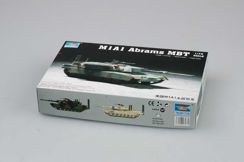 M1A1 Abrams MBT. Сборная модель американского танка. 1/72 TRUMPETER 07276