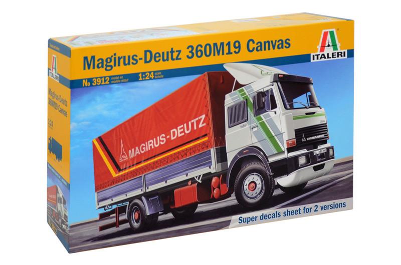 MAGIRUS-DEUTZ 360M19 CANVAS. Сборная модель грузового автомобиля в масштабе 1/24. ITALERI 3912