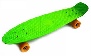 "Пенни борд (Penny Board) Nickel 27\"" с матовыми колесами, Green"