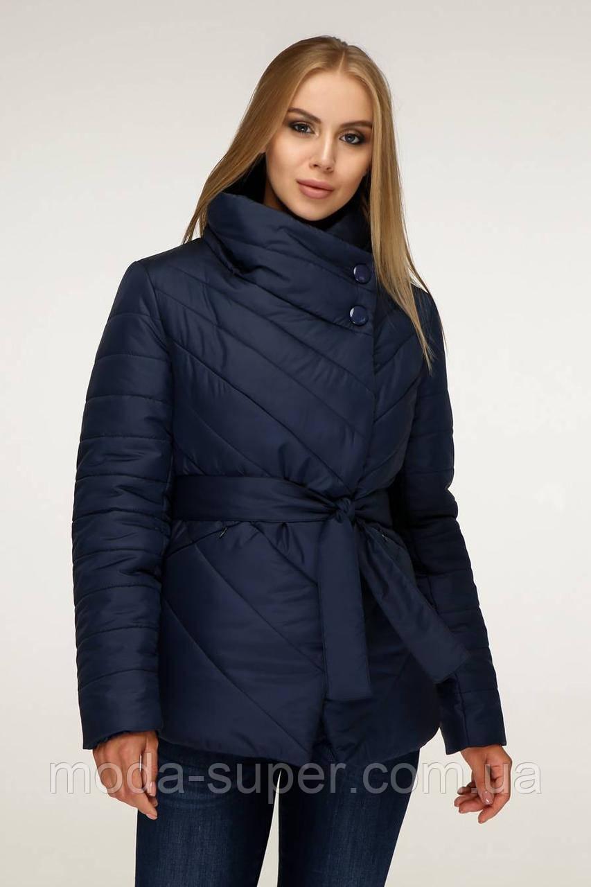 Куртка женская деми с диагональной застежкой  рр 44,46,52