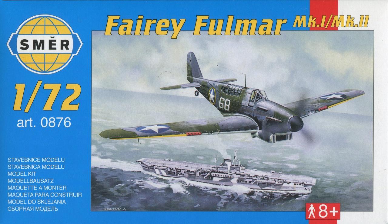 Fairey Fulmar Mk.I/MK.II. Сборная модель самолета в масштабе 1/72. SMER 0876