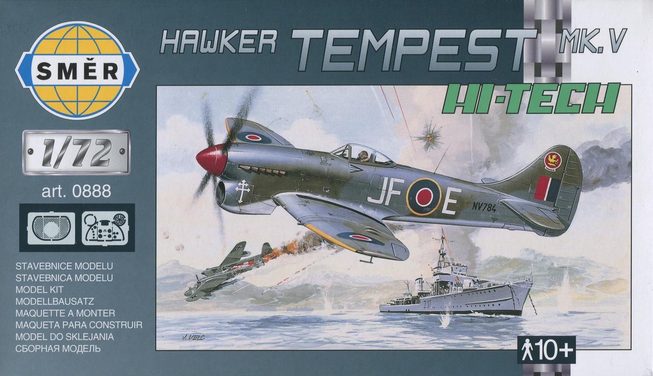 Hawker Tempest Mk.V (HI-TECH). Сборная модель самолета в масштабе 1/72. SMER 0888