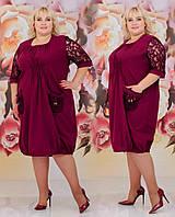Женское платье  батал с 48 по 62 рр натуральный лён