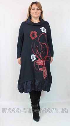 Очень красивое платье в цветах с бусинами  Pompadur  Турция рр 52-58, фото 2