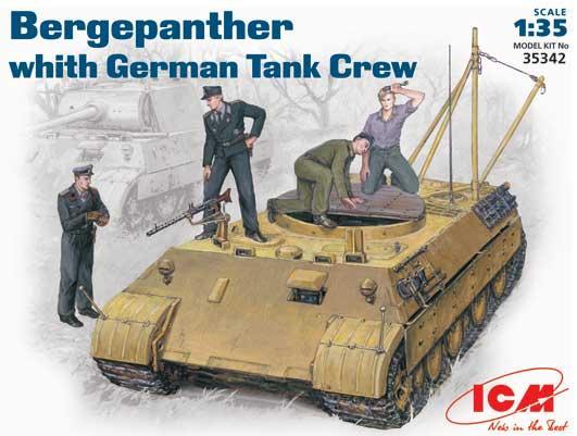 Bergepanther c немецким танковым экипажем. 1/35 ICM 35342