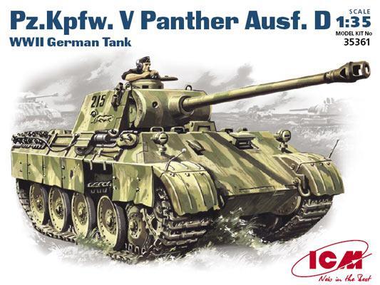 PZ.KPFW. V PANTHER AUSF. D. Сборная модель немецкого танка. 1/35 ICM 35361