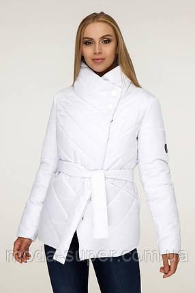 Куртка жіноча демі з діагональною застібкою рр 44 48 50 54, фото 2
