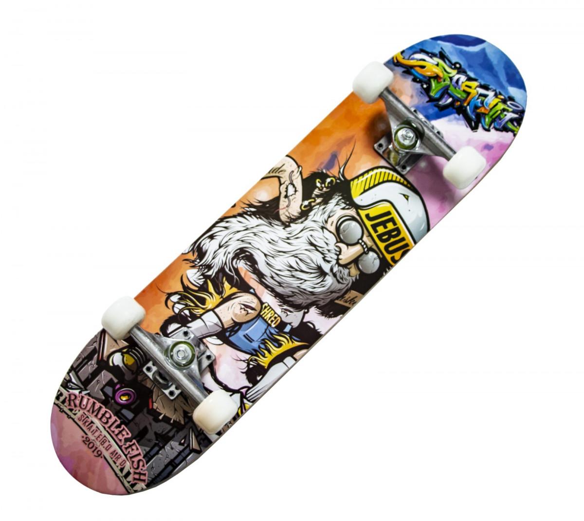 "Скейтборд ""Display"" деревянный с рисунком 31"", ""JEBUS"""