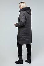 Куртка жіноча зимова з еко-хутром мутона 50-60 рр, фото 2