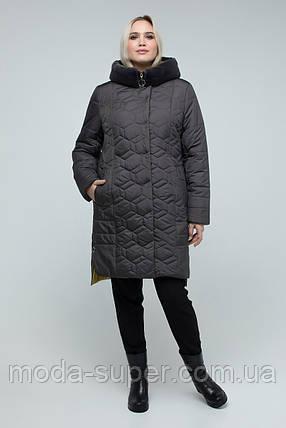 Куртка женская зимняя с эко-мехом мутона  рр 50-60, фото 2