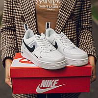 Кроссовки кожаные в стиле Nike Air Force 1 Low White (Найк Аир Форс) белые 36-40 женские