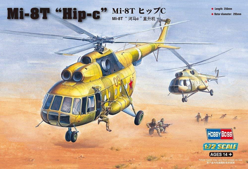 """Mи-8T """"Hip-c"""". Сборная пластиковая модель вертолета в масштабе 1/72. HOBBY BOSS 87221"""