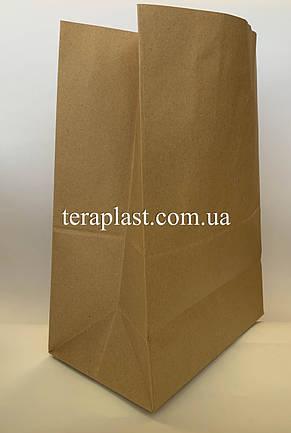 Бумажные крафт-пакеты без ручек бурые 250х150х350, фото 2