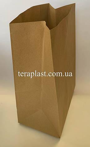 Бумажные крафт-пакеты без ручек бурые 250х150х350, фото 3