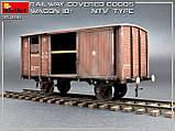 """Залізничний критий вагон 18т. Тип """"НТВ"""" 1/35 MINIART 35288, фото 2"""