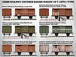 """Залізничний критий вагон 18т. Тип """"НТВ"""" 1/35 MINIART 35288, фото 3"""