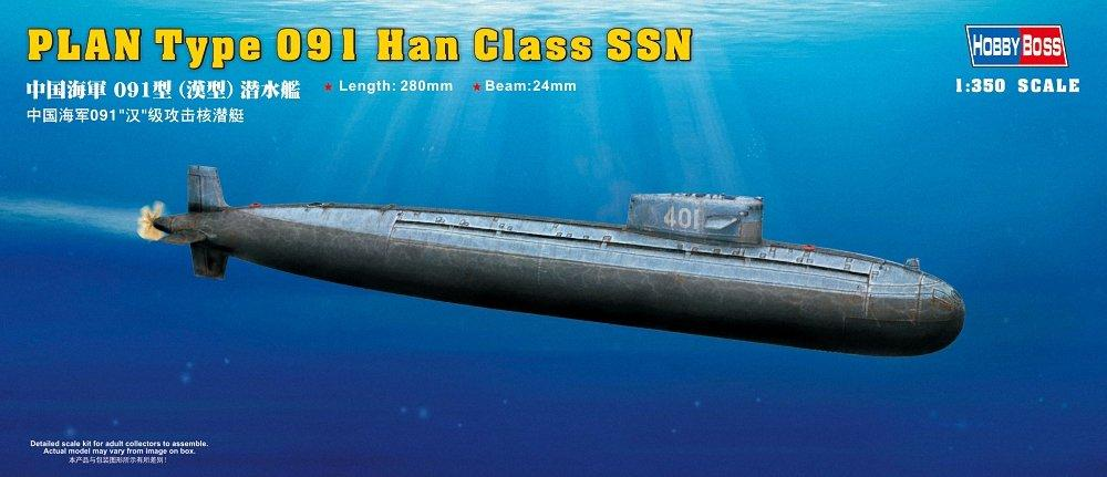 Сборная модель. PLAN Type 091 Han Class SSN. 1/350 HOBBY BOSS 83512