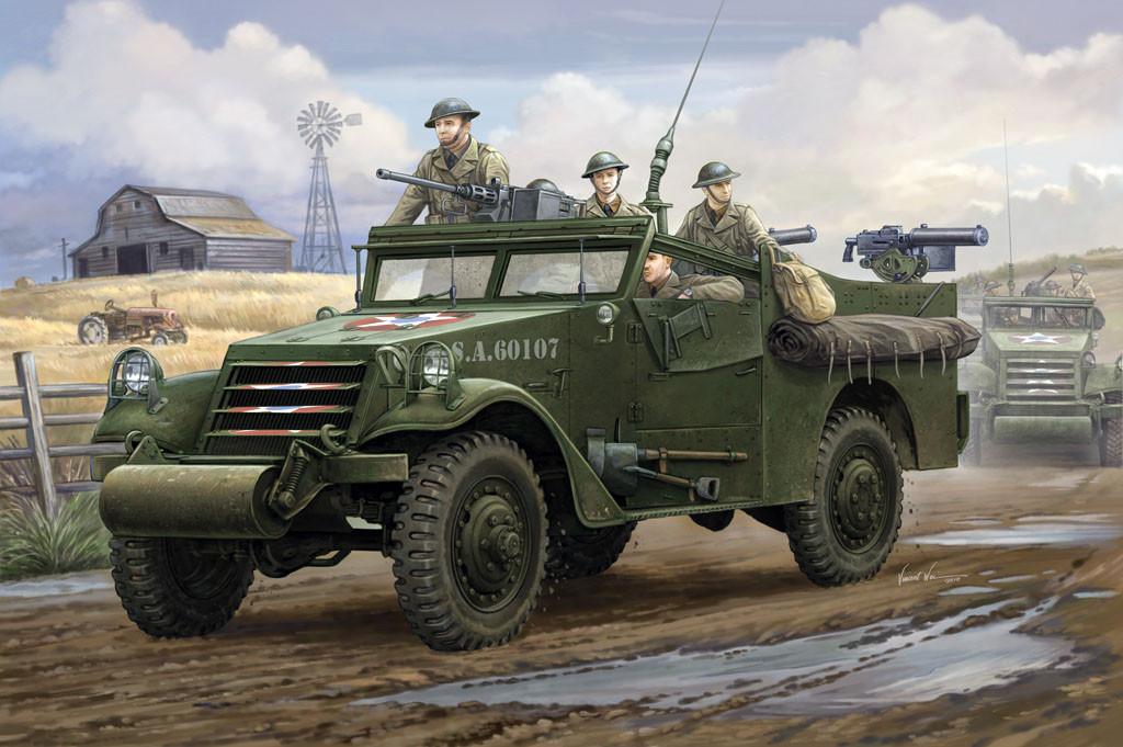"""U.S. M3A1 """"White Scout Car"""". Сборная модель. 1/35 HOBBY BOSS 82451"""