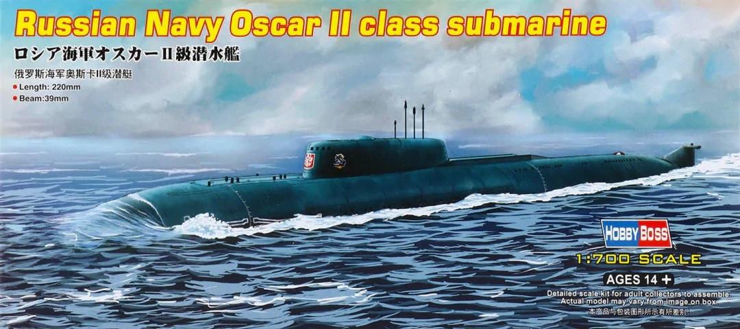 Сборная модель. Russian Navy Oscar II class submarine. 1/700 HOBBY BOSS 87021