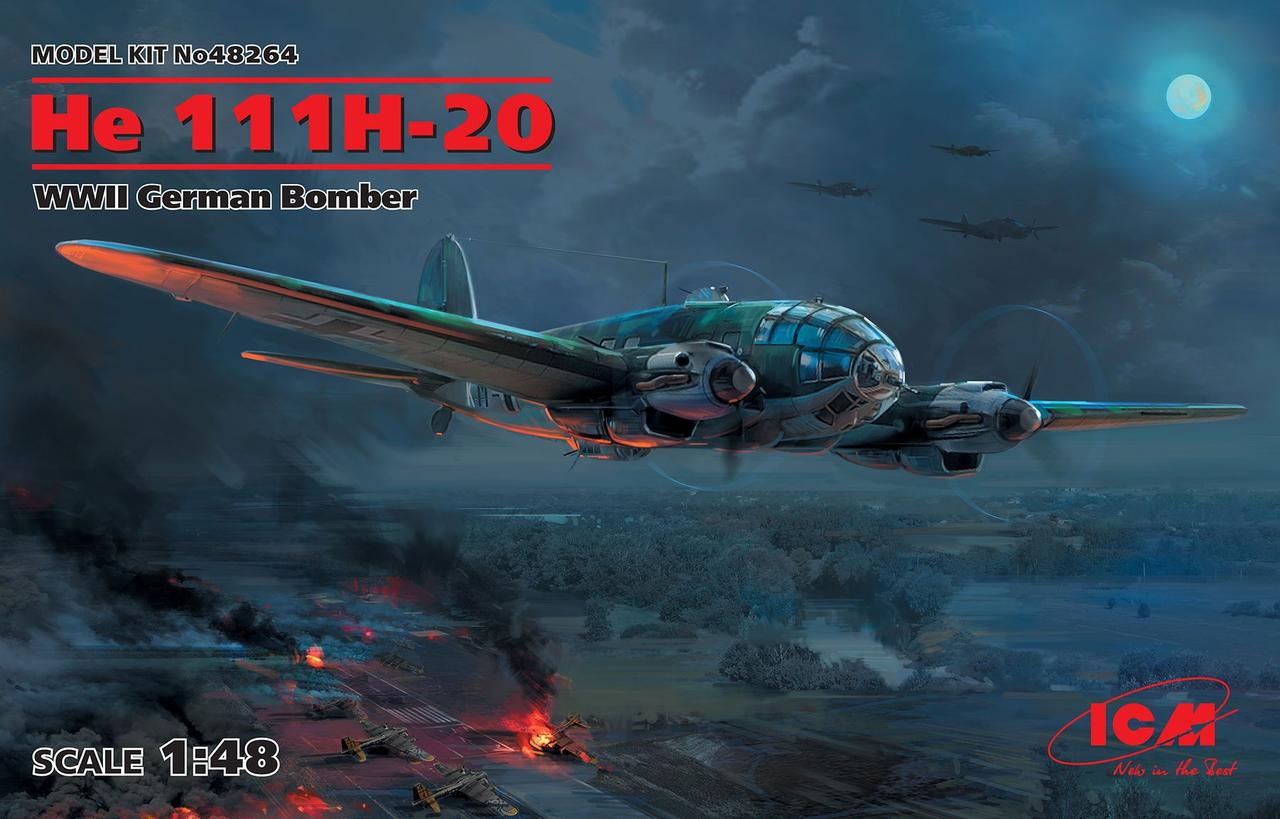 He 111H-20, WWII German Bomber. 1/48 ICM 48264