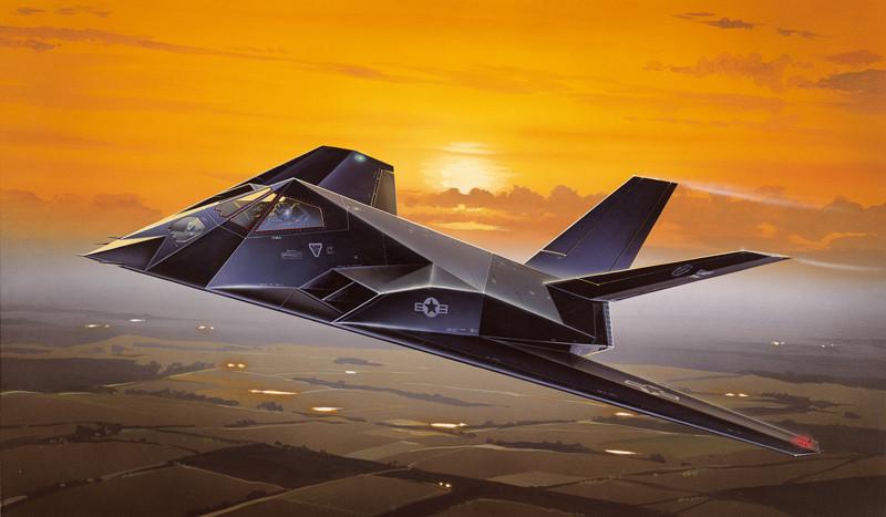 F-117A NIGHTHAWK. Сборная модель самолета в масштабе 1/72. ITALERI 189