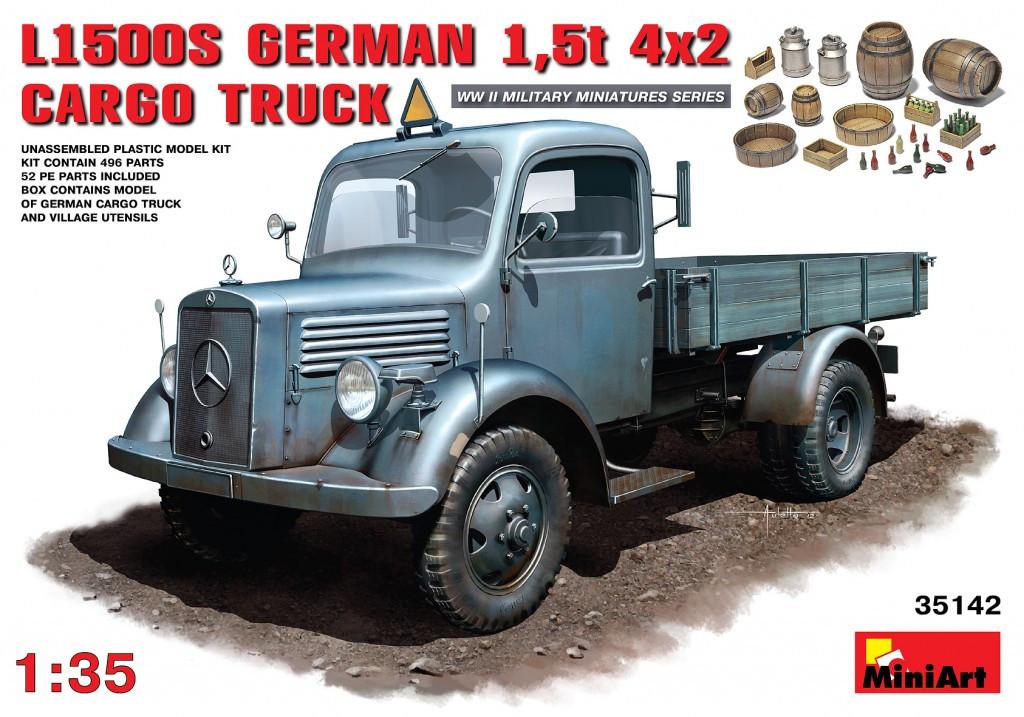 MB L1500S Немецкий грузовой автомобиль 1,5 т. 1/35 MINIART 35142