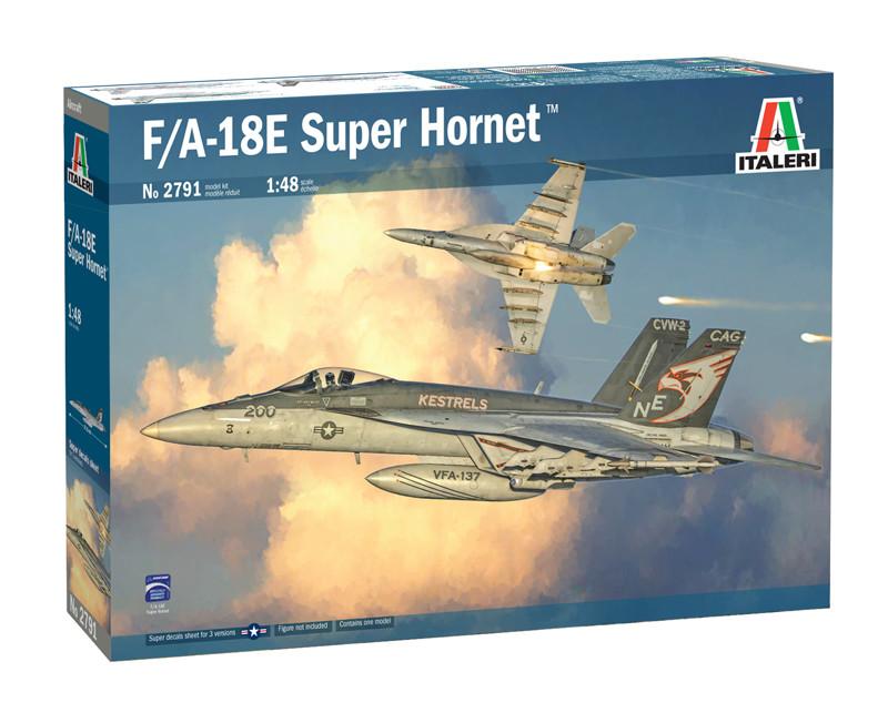 F/A-18 E SUPER HORNET. Сборная модель военного самолета в масштабе 1/48. ITALERI 2791