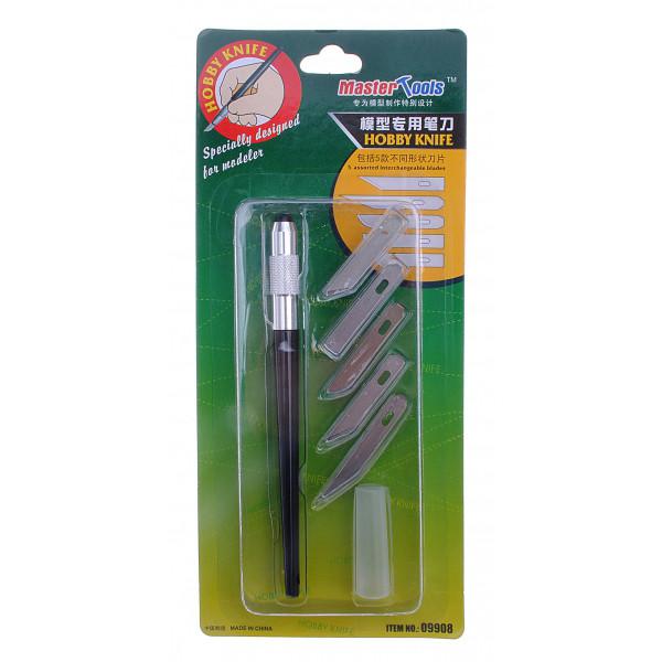 Модельный нож + 5 лезвий. MASTER TOOLS 09908