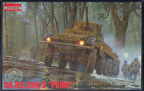 Sd. kfz 234/2. Сборная модель немецкого броневика в масштабе 1/72. RODEN 705