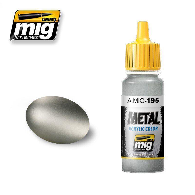 Краска для моделей Металлик серебро 17 мл. AMMO MIG A.MIG-195