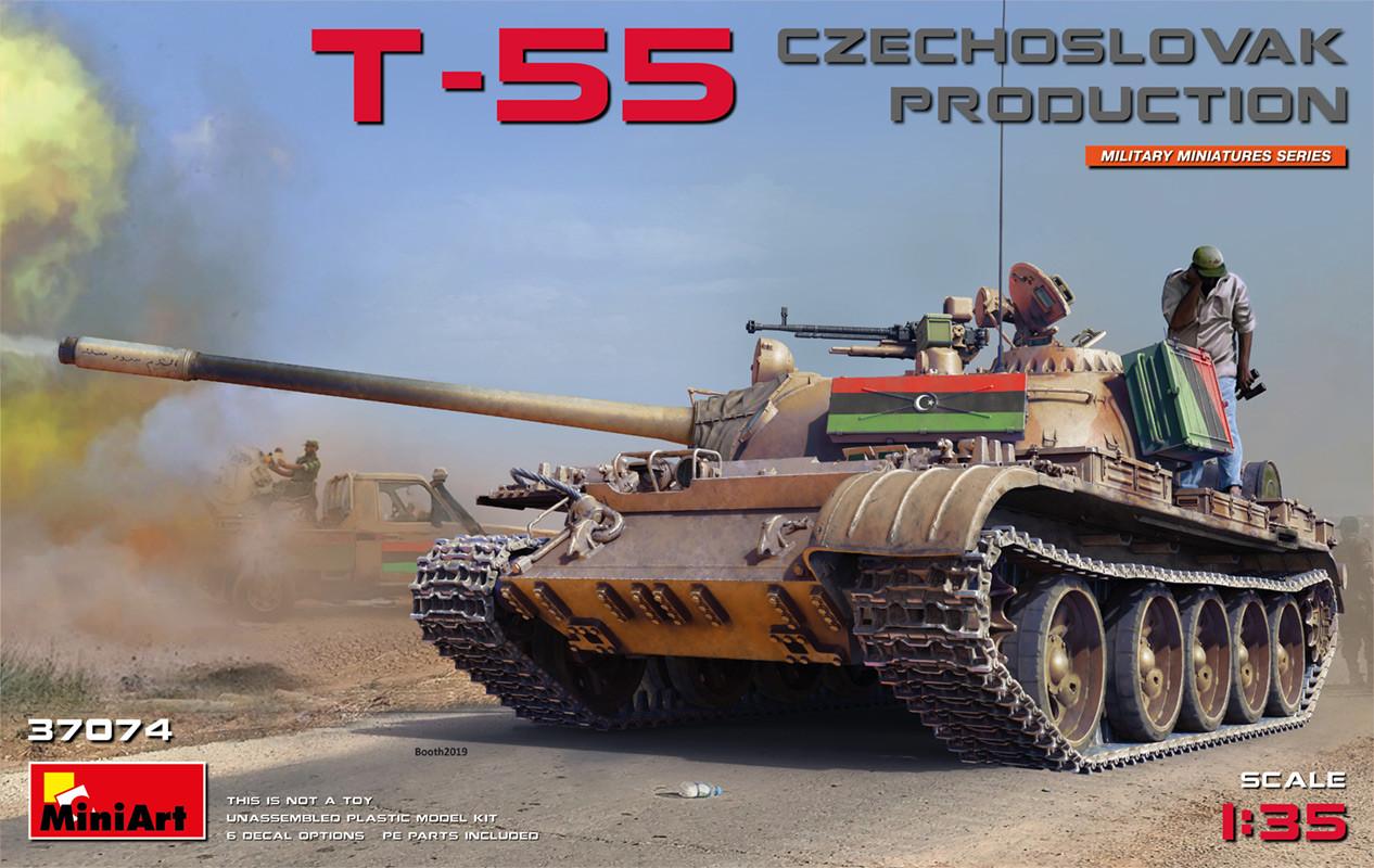 Сборная модель танка Т-55 чехословацкого производства. 1/35 MINIART 37074