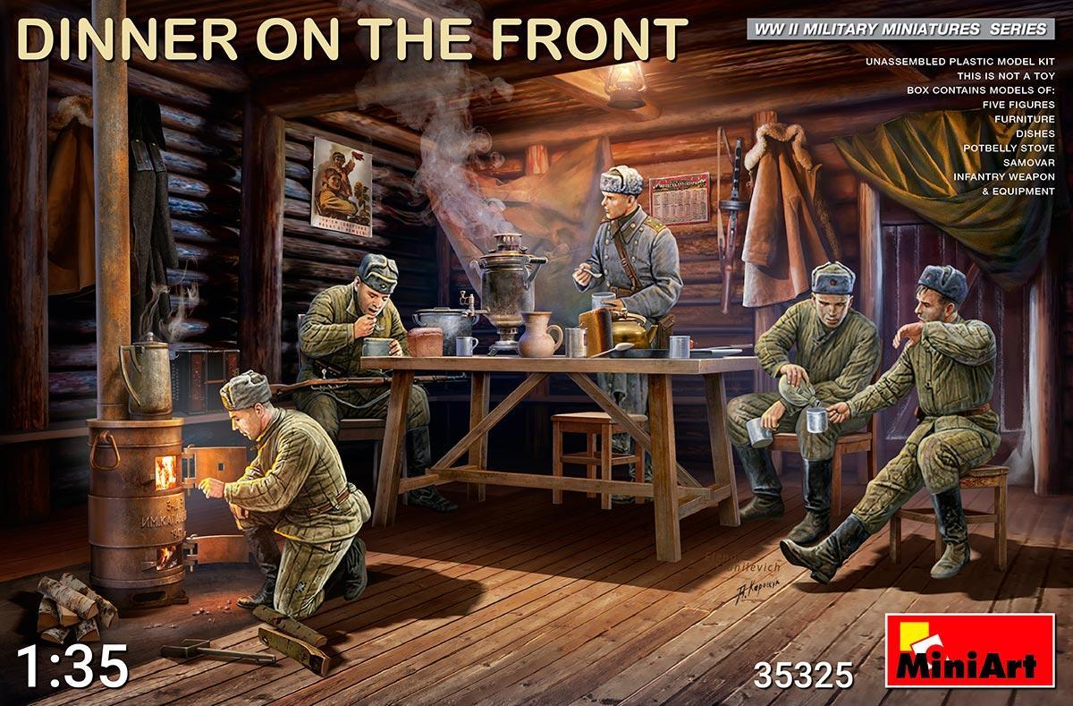 Фронтовой ужин советских солдат. Набор для диорамы в масштабе 1/35. MINIART 35325