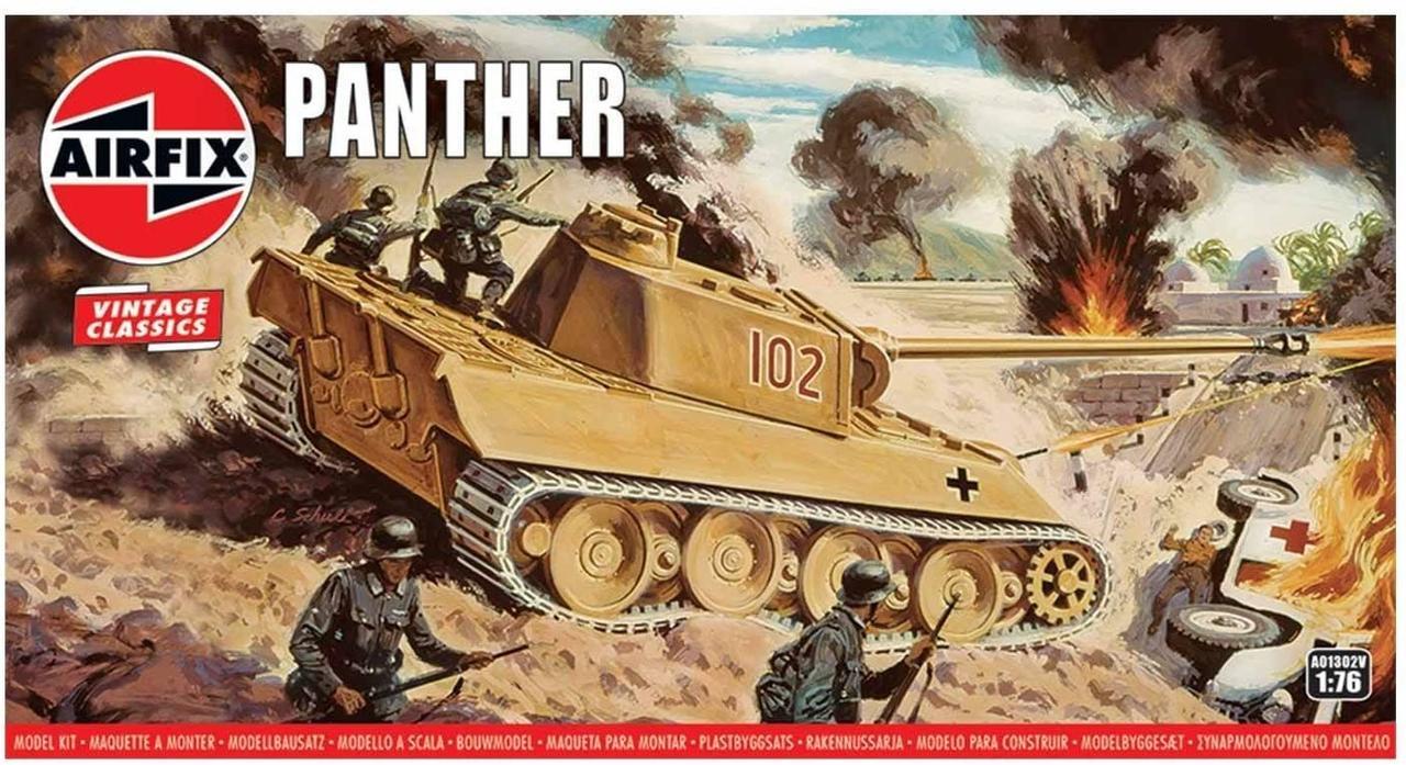 Panther. Сборная модель немецкого танка в масштабе 1/76. AIRFIX 01302