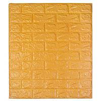 Самоклеющаяся декоративная 3D панель под кирпич цвет оранжевый 700*770*7мм, фото 1