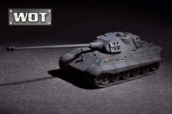 German King Tiger (Porsche turret) with 105mm kwk L/68. Сборная модель в маштабе 1/72. TRUMPETER 07161