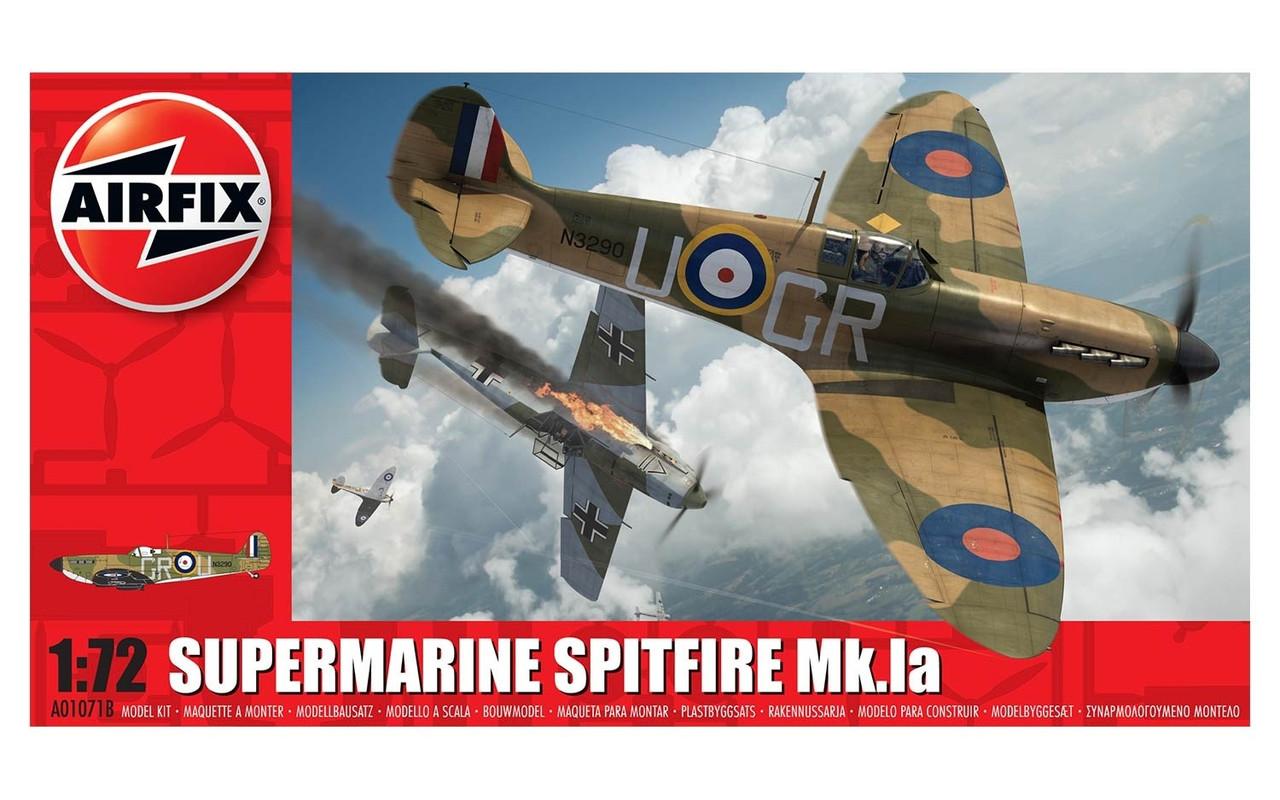 Supermarine Spitfire Mk.I. Сборная модель самолета. 1/72 AIRFIX 01071B