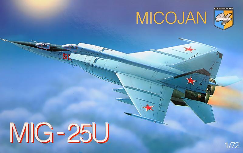 МиГ-25У. Сборная модель советского самолета в масштабе 1/72. CONDOR 7213